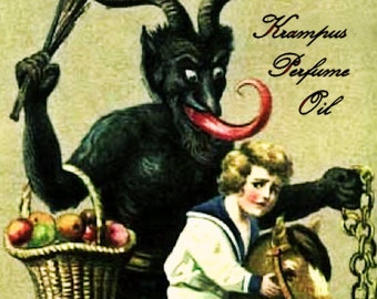 KRAMPUS Perfume Oil: Frankincense, birch wood, clove, bay rum, dark oak, black pepper, Christmas Perfume, Winter Fragrance
