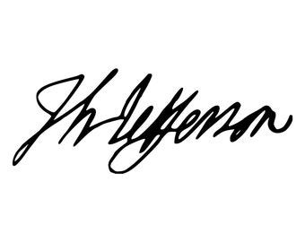 Thomas Jefferson Signature Die-Cut Decal Car Window Wall Bumper Phone Laptop
