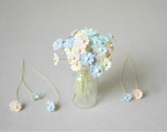 10  mm /  40  Mixed Color  Paper  Flowers