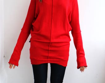 Bright Women's Dress with long sleeves made from Cashmere