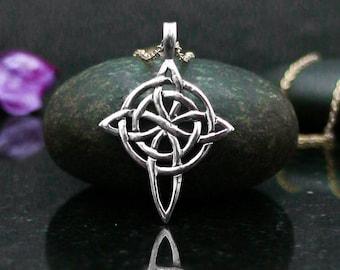 Celtic cross necklace, Celtic cross pendant, Celtic cross jewelry, Celtic necklace, Celtic jewelry, Celtic cross, Celtic knot, silver 925.