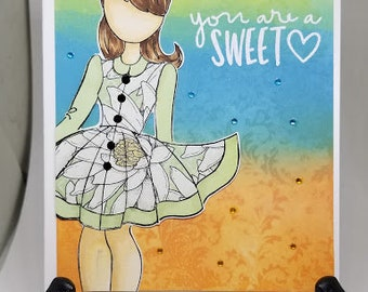 You Are So Sweet! Paper Dolls Greeting Cards!