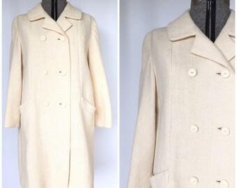1960s Volup Cream Wool Coat - True Vintage