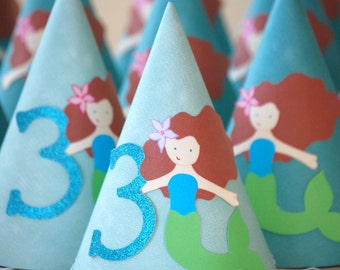 The MERMAID Collection - Single Custom Party Hat from Mary Had a Little Party