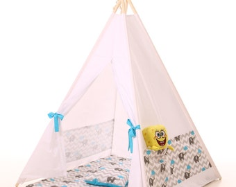 Kids teepee + pillow ,play tent wigwam, children's teepee, tipi, wigwam, kids teepee, tent, play teepee, high quality wigwam  TIPI ENFANTS
