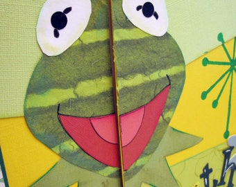 Kermit the Frog Sesame Street Premade Paper Piecing
