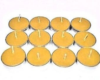100% Natural Beeswax  Tealight Candles Pick A Pack