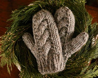 Chunky Cable Mittens