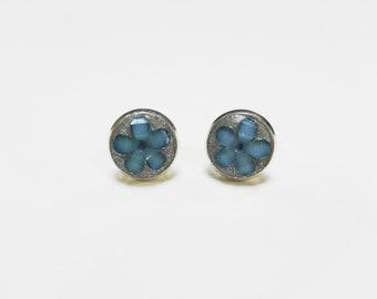 Sterling silver post earrings - Sterling silver stud earrings - Concrete post earrings - Concrete stud earrings - Concrete jewelry