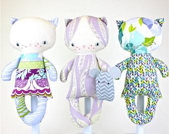 SALE Kitten Baby Doll PDF Pattern