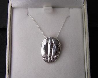 Solid Silver Trilobite Necklace