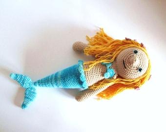 Fairy Tale Doll - Mermaid Doll - Handmade Mermaid Amigurumi -Crochet Mermaid Doll - Mermaid Softies - Mermaid Plush - Stuffed Mermaid Doll