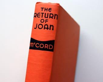 The Return of Joan by Joseph McCord / 1938 Edition / Triangle Books / Blue Ribbon Books