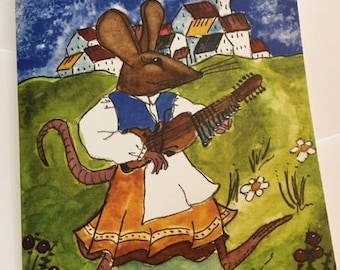 Notecard: Nyckelharpa Mouse