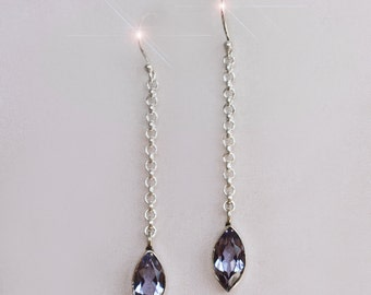 Periwinkle - Beautiful Iolite Sterling Silver Earrings