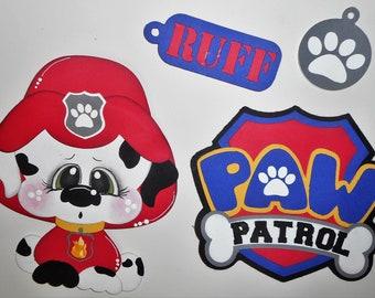 Paw Patrol Handmade Embellishment Die Cut 4 Cards Scrapbook Pages Layouts Borders Elite4u