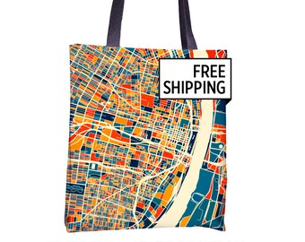 St Louis Map Tote Bag - Missouri Map Tote Bag 15x15