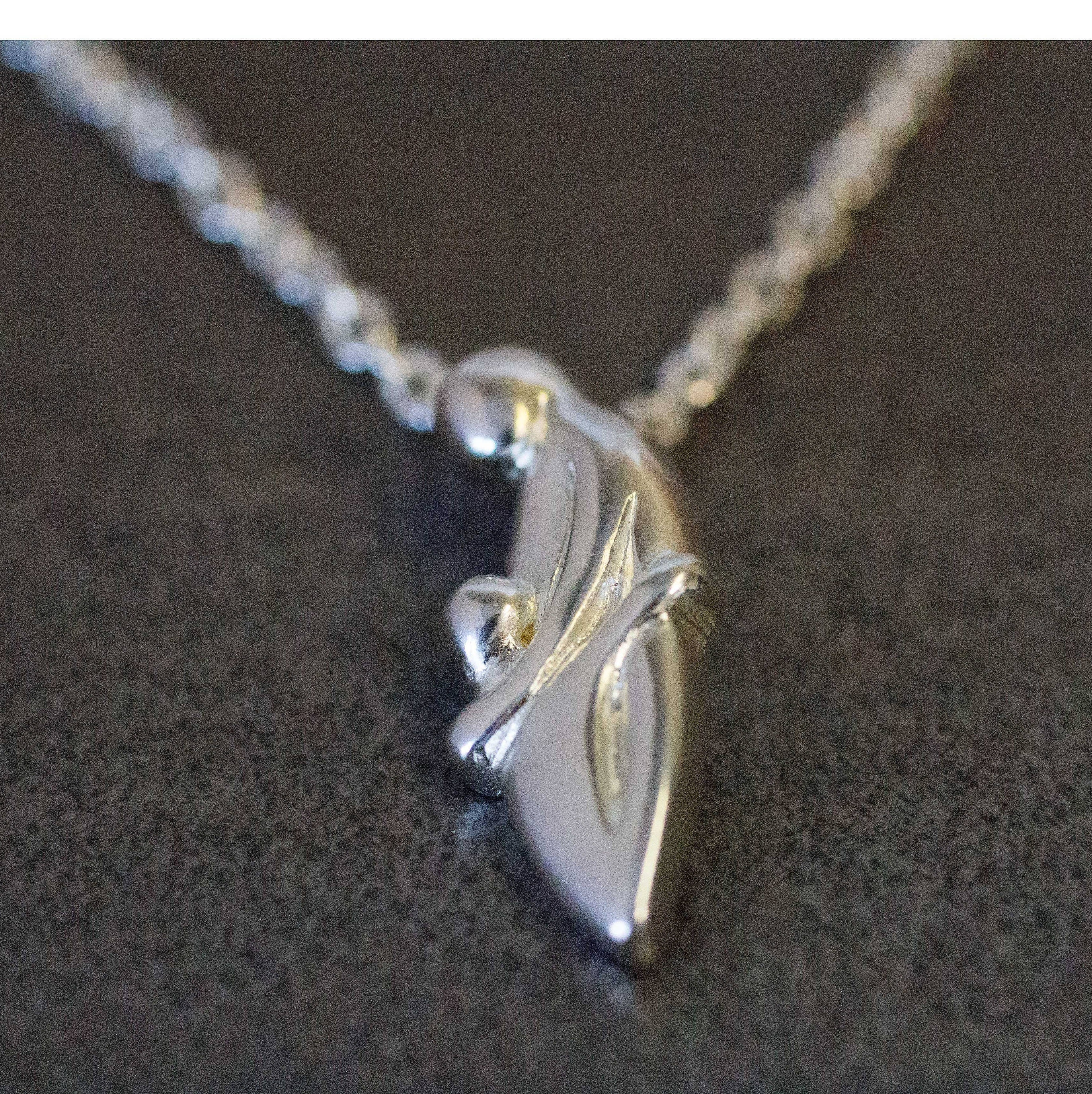 Sterling silver mother child pendant necklace aloadofball Image collections