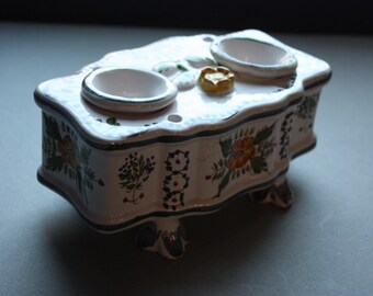 Portuguese Porcelain Inkwell