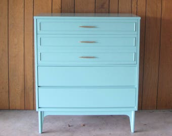 SOLD - Midcentury Dixie Tallboy Dresser
