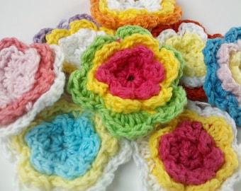 SALE SALE Deal 20% off 40 Handmade Crochet Flower Appliques Sewing Bow