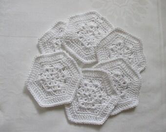 6 Coasters White coaster cover