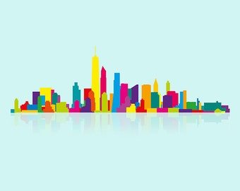 New World Trade Center Skyline art print