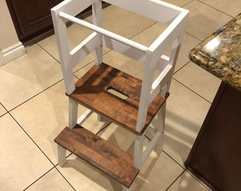 Child Stool with Stained Steps