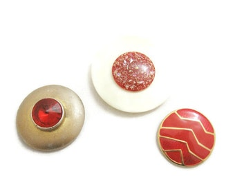 Set of Three Decorative Magnets - Raspberry Red