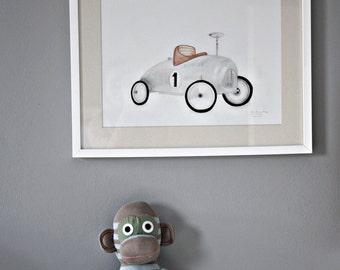Kids art print, retro children's posters, boys wall decoration, vintage kids wall art, kids-retro art, retro, illustration,.