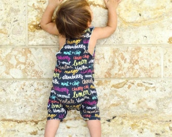PDF Pattern - Racerback Romper - Babies/Toddlers - Sizes Premie to 2-3T - Instant Download - Easy Photo Tutorial