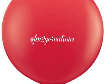 """Red Balloons 36"""" Round 