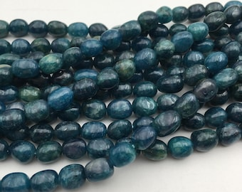 """Natural Apatite Nugget Gemstone Smooth Loose Beads Size 8-10mm Approx 15.5"""" Long per Strand"""