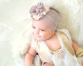 Baby Headband, baby girl headbands, Baby Girl Gift,  Newborn Headband, Infant headbands, Baby Girl Flower Headband, headbands for babies