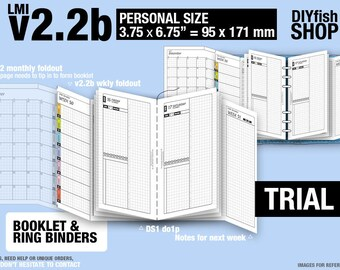 Trial [PERSONAL v2.2b w ds1 do1p] July to September 2018   - Filofax Inserts Refills Printable Binder Planner Midori.