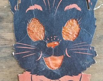 Vintage Black Cat Halloween lantern Decoration
