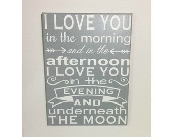 Painted canvas sign - canvas quotes - baby shower gift - nursery wall art