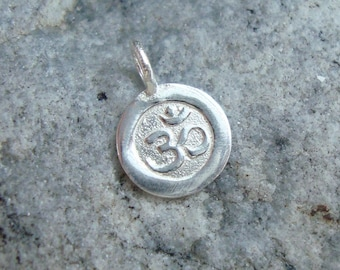 1 pc, 15x10mm, Handmade 925 Sterling Silver Ohm Symbol Pendant Charm, Yoga Charm, PC-0031