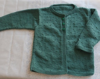 Vest top cotton knitted buttons green Strawberry was spring baby girl vintage retro