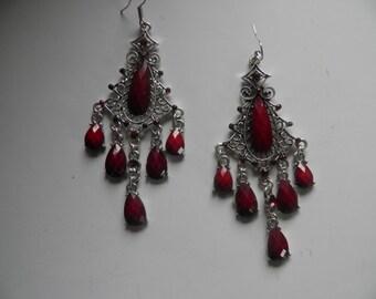 Silver Dangle, Shoulder Duster Pierced Earrings