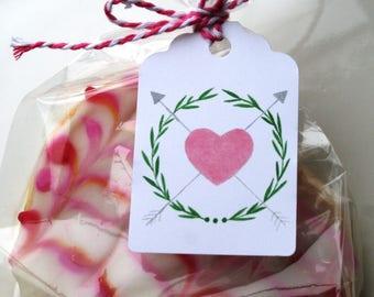 Valentine's Day gift tags, Valentine's Day, gift tags, heart gift tags, anniversary gift tags, watercolor gift tags, wedding gift tags
