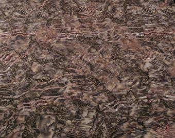 Oceanna Brown Batik Cotton Fabric from Michael Miller