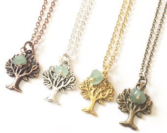 Tree Necklace, Tree Pendant Necklace, Tree of Life Necklace, Nature Jewelry, Earthy Jewelry, Tree of Life Jewelry, Spiritual Gift for Her