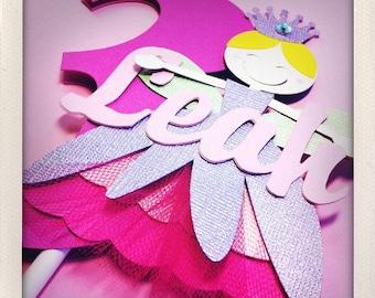 Garden Fairy Cake Topper - Personalized