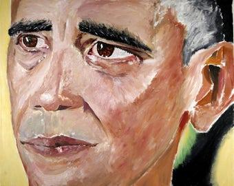 President Barack Obama Barack Obama Art President Artwork Barack Obama Wall Art Obama Painting Print Painting Wall Art