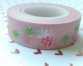Pink Polka Dot Pineapple Washi Tape Embellishments And Paper Craft Supplies