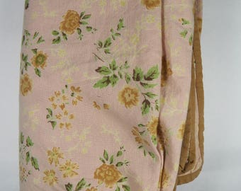 Vintage Cotton Floral Fabric, Floral Quilting Fabric, Floral Dress Fabric
