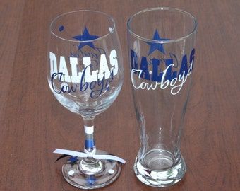 Dallas Cowboys Wine/Pilsner Beer Set OR 2- Pilsner Beer Glass sets, Cowboys Gifts, Beer/Wine Gifts Sets, Go Cowboys!