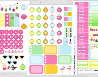 Pinup Girl Summer Planner Sticker Kit