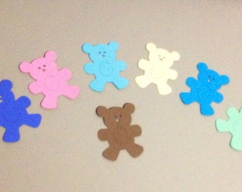 Teddy bear die cuts 50 total, hand punched of cardstock